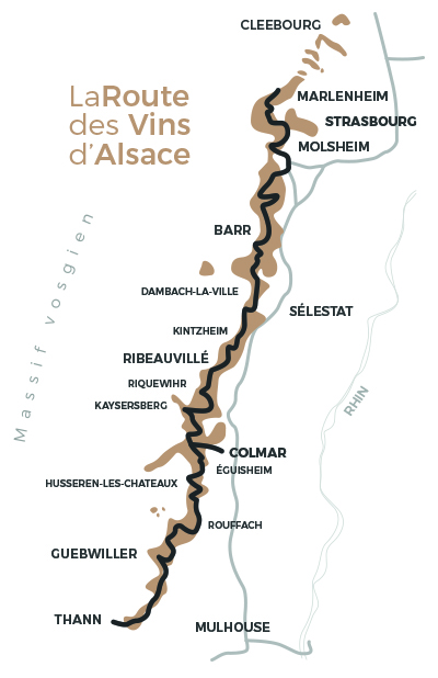 maps - Alsace wine routes